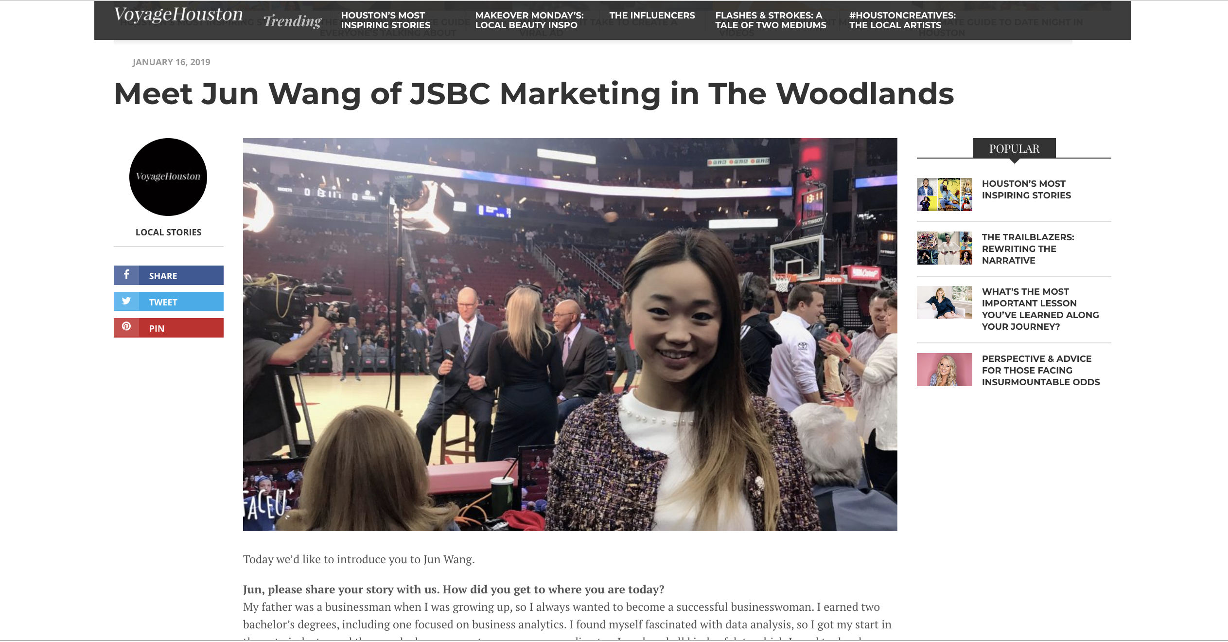 Voyage Houston Interview Jun Wang of JSBC Marketing