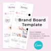Brand Board Template Pink
