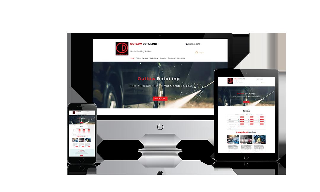 Outlaw detailing website design