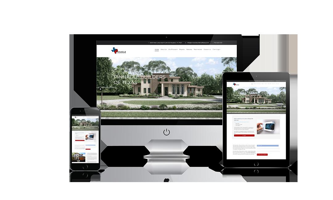 Pinnacle Builders of Texas Website